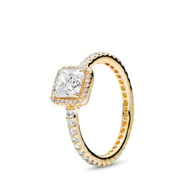 Timeless Elegance Ring, Yellow Gold 14 k, Cubic Zirconia - PANDORA - #150188CZ