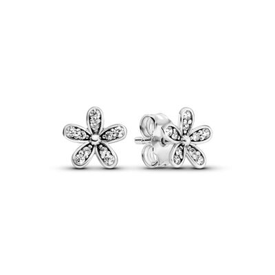 a947b3437f363 Dazzling Daisies Stud Earrings, Sterling silver, Cubic Zirconia –