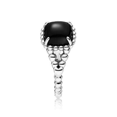 Black Vibrant Spirit Ring, Sterling silver, Black, Crystal - PANDORA - #197188NCK