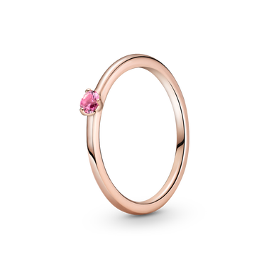 Pink Solitaire Ring