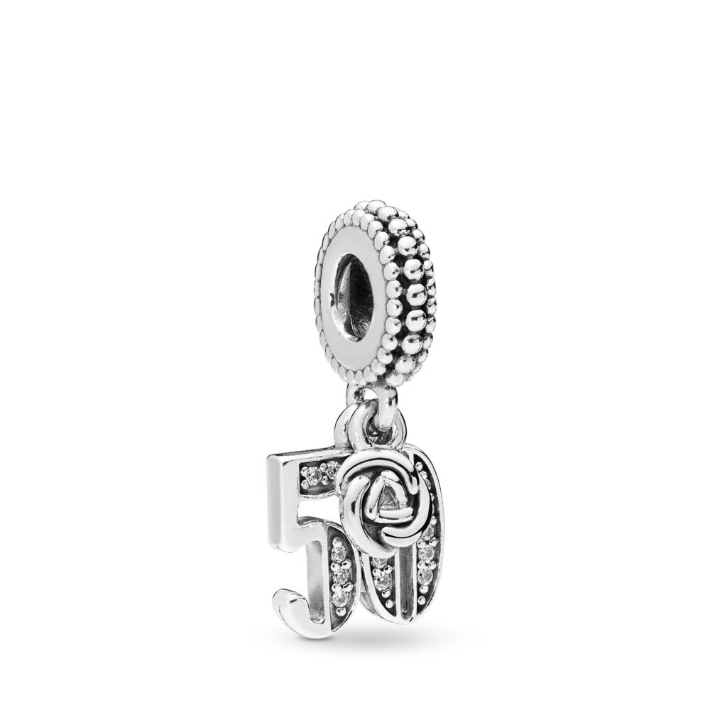 99cb6c722 50 Years of Love Pendant Charm, Sterling silver, Cubic Zirconia –