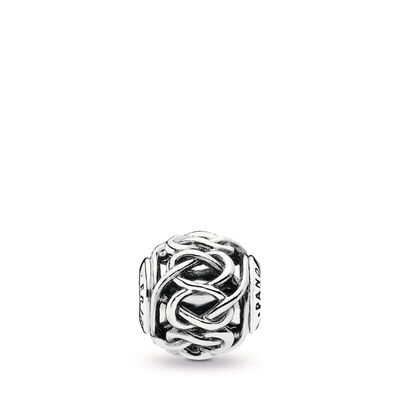 ESSENCE Friendship Charm, Sterling silver, Silicone - PANDORA - #796057
