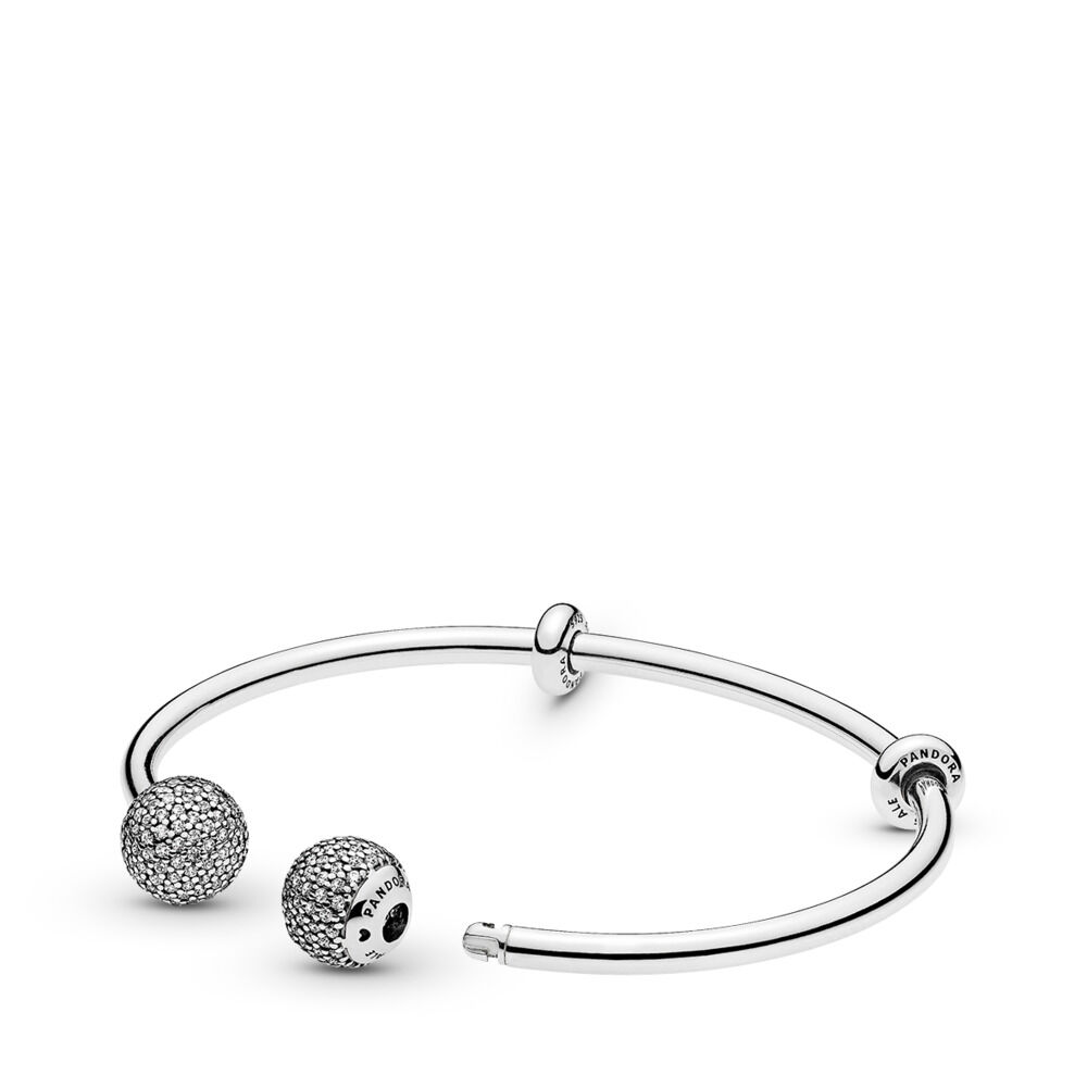 Elements Silver Open Loop Bangle