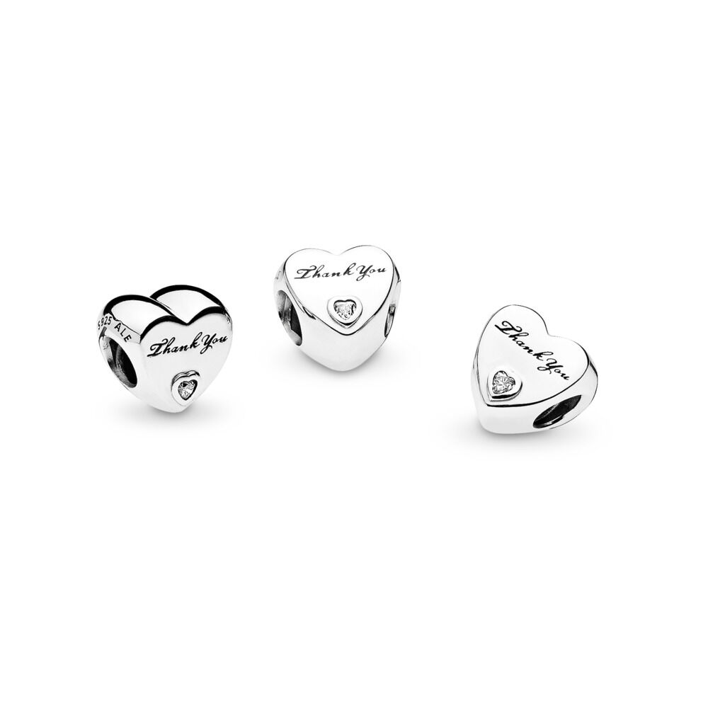 eb739f4dc Thank You Charm, Sterling silver, Cubic Zirconia – Shop PANDORA G