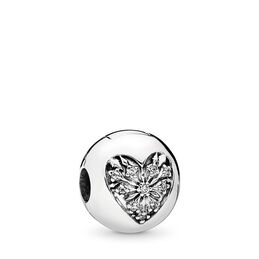 Heart of Winter Clip, Sterling silver, Cubic Zirconia - PANDORA - #796388CZ