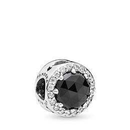 Disney, Evil Queen's Black Magic Charm, Sterling silver, Black, Mixed stones - PANDORA - #797487NCK