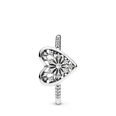 Heart of Winter Ring, Sterling silver, Cubic Zirconia - PANDORA - #196371CZ