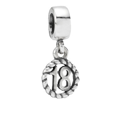 18th Birthday Pendant Charm