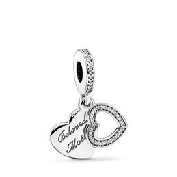 Beloved Mother Pendant Charm, Sterling silver, Cubic Zirconia - PANDORA - #791883CZ