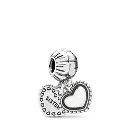 My Special Sister Pendant Charm, Sterling silver - PANDORA - #791383