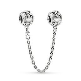 Enchanted Heart Safety Chain, Sterling silver - PANDORA - #797036