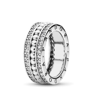 Forever PANDORA Ring, Sterling silver, Cubic Zirconia - PANDORA - #190962CZ