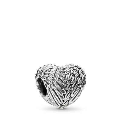 Angelic Feathers Charm, Sterling silver - PANDORA - #791751