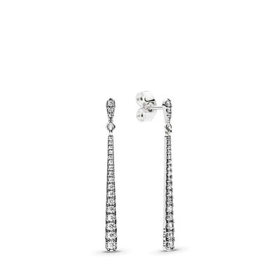 Shooting Stars Drop Earrings, Sterling silver, Cubic Zirconia - PANDORA - #296351CZ