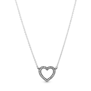 Sparkling Open Heart Necklace
