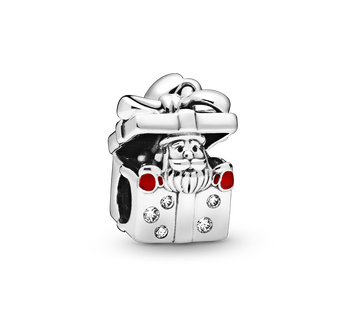 Santa in a Giftbox Charm
