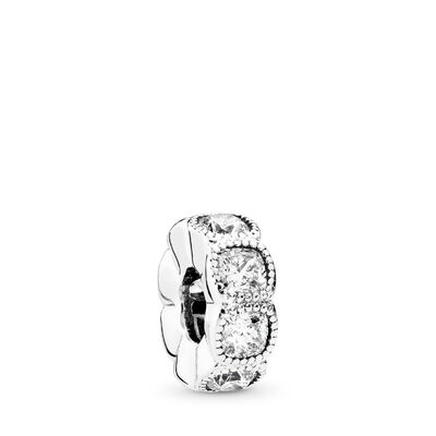 Alluring Cushion Spacer, Sterling silver, Cubic Zirconia - PANDORA - #792027CZ