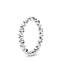 Heart Stacking Ring, Sterling silver - PANDORA - #190837