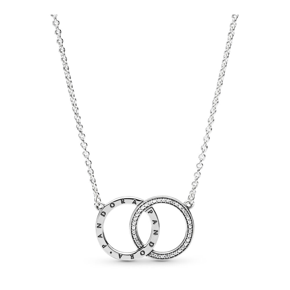 e3e6122c4 cheap pandora double heart necklace 3ca91 e825c