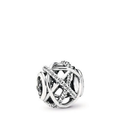 88d5a3c53 Openwork abstract silver charm with cubic zirconia – Shop PANDORA