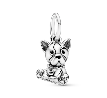 Bulldog Puppy Dog Dangle Charm