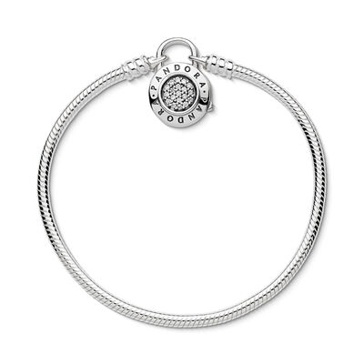 Moments Smooth Silver Bracelet Pandora Signature Padlock