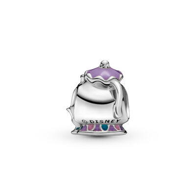 Disney, Mrs. Potts & Chip Charm, Sterling silver, Enamel, Blue - PANDORA - #792141ENMX