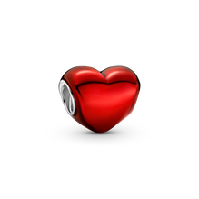 Metallic Red Heart Charm