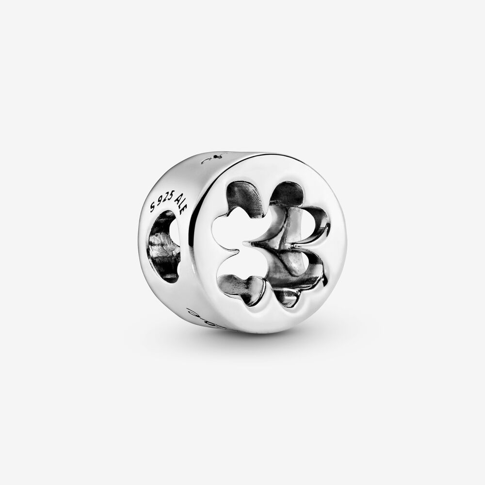Luck Amp Courage Four Leaf Clover Charm Sterling Silver
