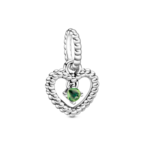 August Birthstone Heart Dangle Charm