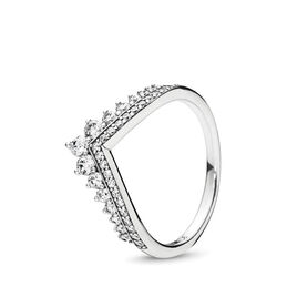 Princess Wish Ring, Sterling silver, Cubic Zirconia - PANDORA - #197736CZ