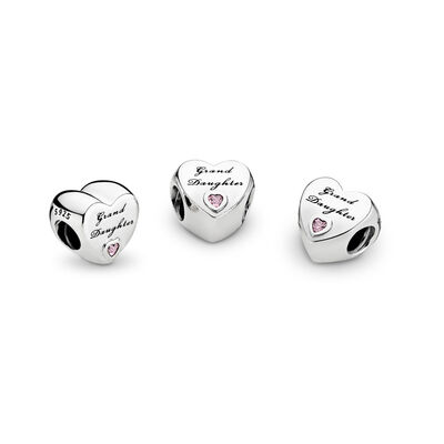 Granddaughter's Love Charm, Sterling silver, Cubic Zirconia - PANDORA - #796261PCZ