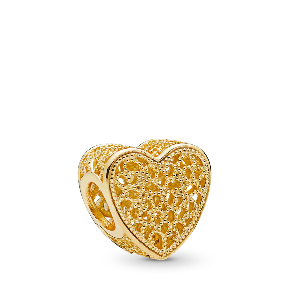 Filled With Romance Charm 18ct Gold Plated Shop Pandora Gb