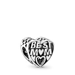 Best Mother Charm, Sterling silver - PANDORA - #791882
