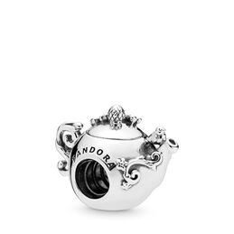 Enchanted Tea Pot charm, Sterling silver, Enamel, Pink, Cubic Zirconia - PANDORA - #797065CZ