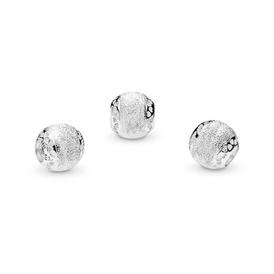 Glittering Hearts of PANDORA Charm, Sterling silver - PANDORA - #792097