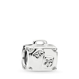 Suitcase Charm, Sterling silver - PANDORA - #790362