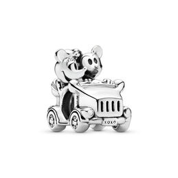 Disney, Mickey and Minnie Vintage Car Charm, Sterling silver - PANDORA - #797174