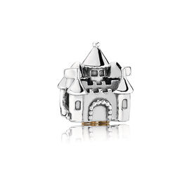 Castle & Crown Charm, Two Tone, Cubic Zirconia - PANDORA - #791133PCZ