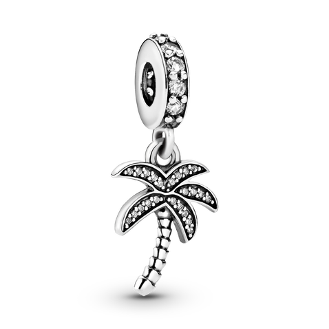 Sparkling Palm Tree Dangle Charm