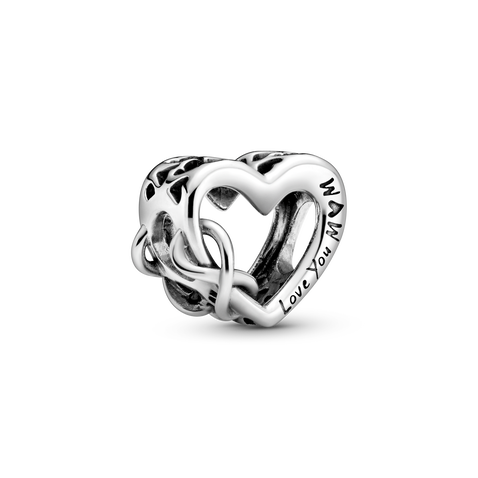 Love You Mum Infinity Heart Charm