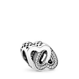 Entwined Love Charm, Sterling silver, Cubic Zirconia - PANDORA - #791880CZ