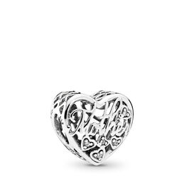Mother & Son Bond Charm, Sterling silver, Cubic Zirconia - PANDORA - #792109CZ
