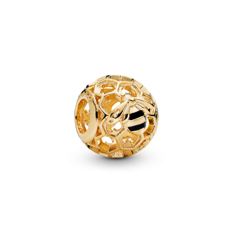 Bee Honeycomb Charm