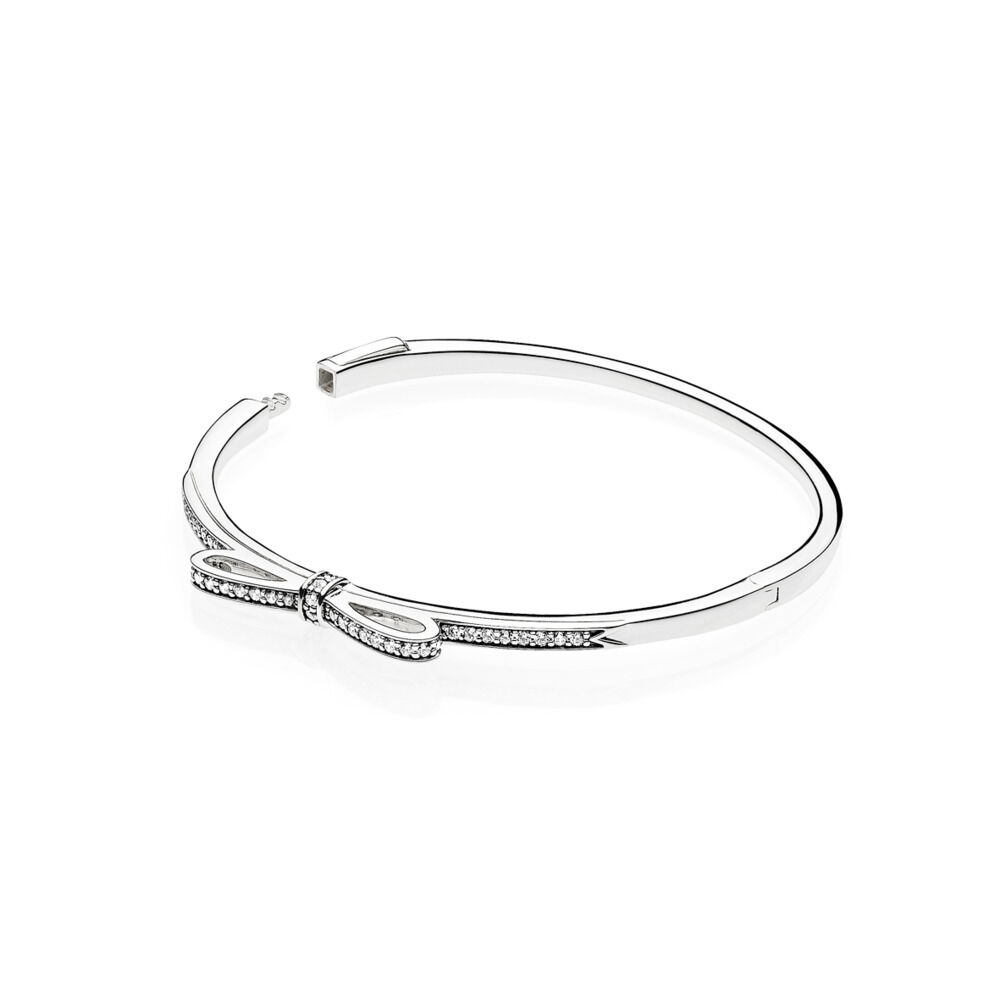 of bracelet en bangle and what pandora clear silver bangles a radiant enamel is cz hearts