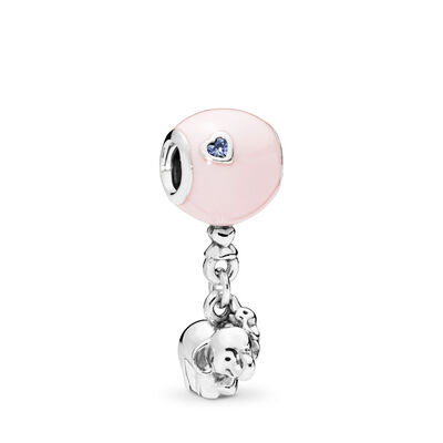 Elephant and Pink Balloon Charm