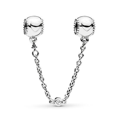 Embossed Hearts Safety Chain
