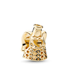 Golden Angel Charm, Yellow Gold 14 k - PANDORA - #750999