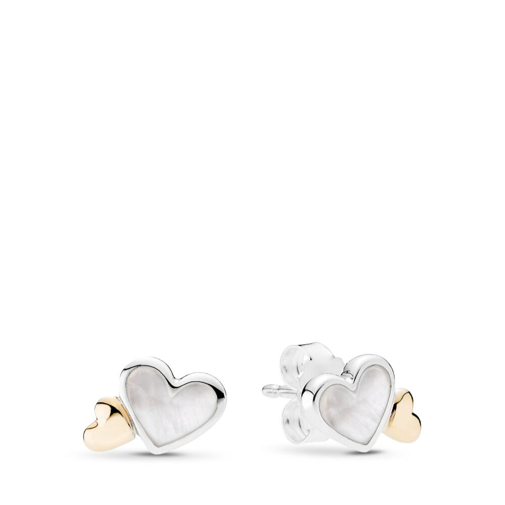 Luminous Hearts Stud Earrings