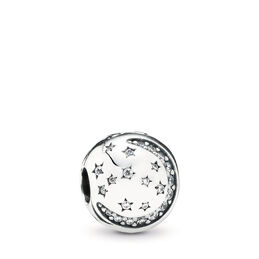 Twinkling Night Clip, Sterling silver, Cubic Zirconia - PANDORA - #791386CZ